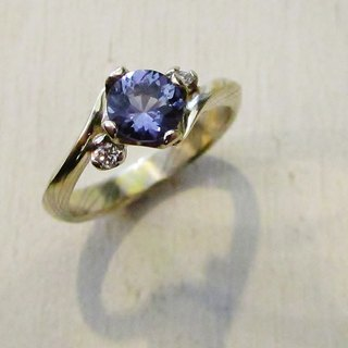 Element47 Jewelry studio~ Karatgold mokumegane engagement ring 10 (14KY/14KW/925