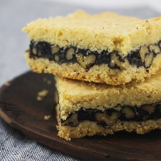 Chocolate Walnut Oatmeal Crisp squares