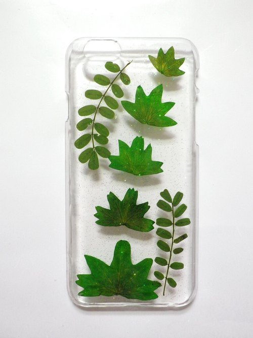 Handmade phone case, iphone 6 & 6S,  Maple Leaf Geranium