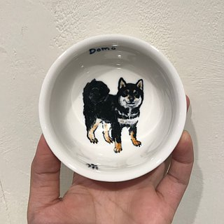 Painted large cup - Black Shiba