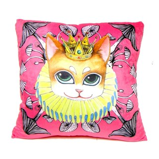 """Gookaso"" Wangdi cat cartoon printed pillow 45x45cm original design"