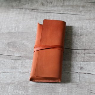 Light Brown Leather Pencil/ Sunglasses Case