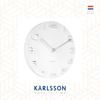 荷蘭Karlsson Wall clock On The Edge w. chrome hands white