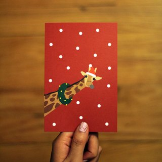[ XMAS EDITION ] Hello,Mr. Giraffe! Postcard
