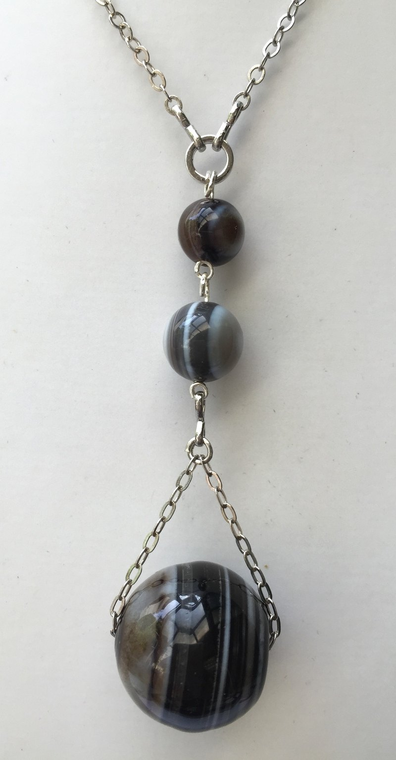 * Stylish and elegant gift of choice * N0201 - Design and manufacture of their own - Natural gemstones 项 - Onyx