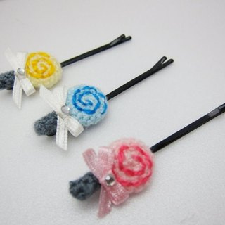 Wool lollipop. Hairpin (with a variety of colors can be selected)