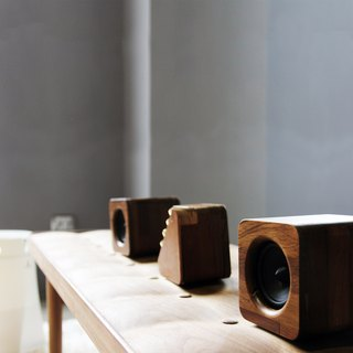 MINFORT | repop Bluetooth portable speaker amplifier + min623 passive two (teak paragraph)