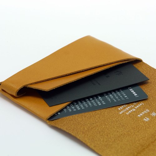 Made shosa japanese handmade vegetable tanned leather business made shosa japanese handmade vegetable tanned leather business card holder clip basic reheart