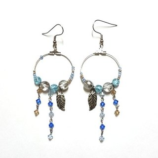 Aqua Elf circle earrings