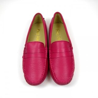 Fort Tony Wang handmade leather shoes (female) [sheep / bean bottom / pink]