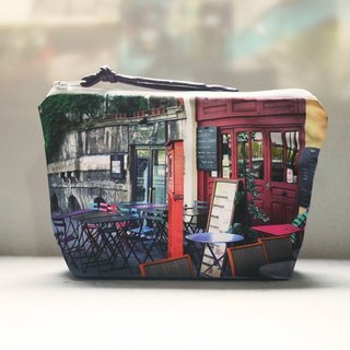 [Just travel] dumpling type cosmetic bag [color chair my coffee with you]