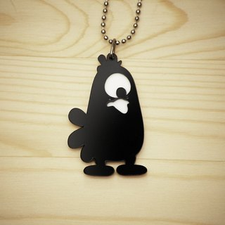 【Peej】'Radioactive Chicken' Double layered Acrylic key chains/necklaces