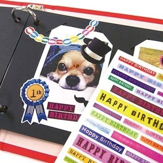 Birthday stickers - signs / text ♥ ACTIVE ♥