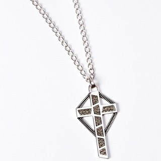 geometric geometric designs series - Black Cross Swarovski Crystal Luo Siqi style necklace