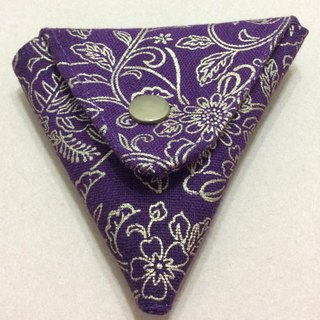 Purple Man line crashed * Triangle Double Open purse