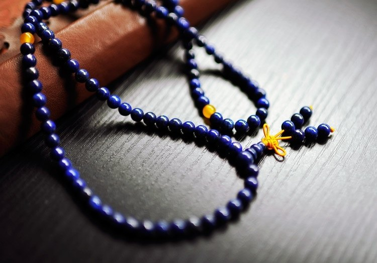 108 Series] lapis lazuli beads conjugated topaz 6mm