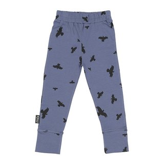 [Design] mói Nordic ferry organic cotton duck leg trousers night blue stickers 1 year old to 8 years old Leggings le2 Night Blue