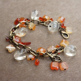 Roaring 20's bronze bracelet -Orange