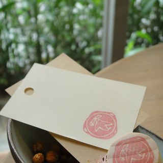 Hand-made rubber stamp - wax seal chapter (Dove)