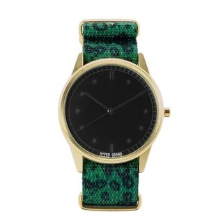 HYPERGRAND - 01 Basic Collection - JADE LEOPARD Emerald Leopard Watch (Gold)
