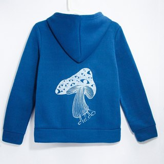 Feel the bristles Hooded Jacket - Nepal mushrooms (blue)