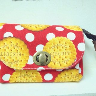 * Clare cloth hand-made biscuits bite of Japanese short clip / Clutch