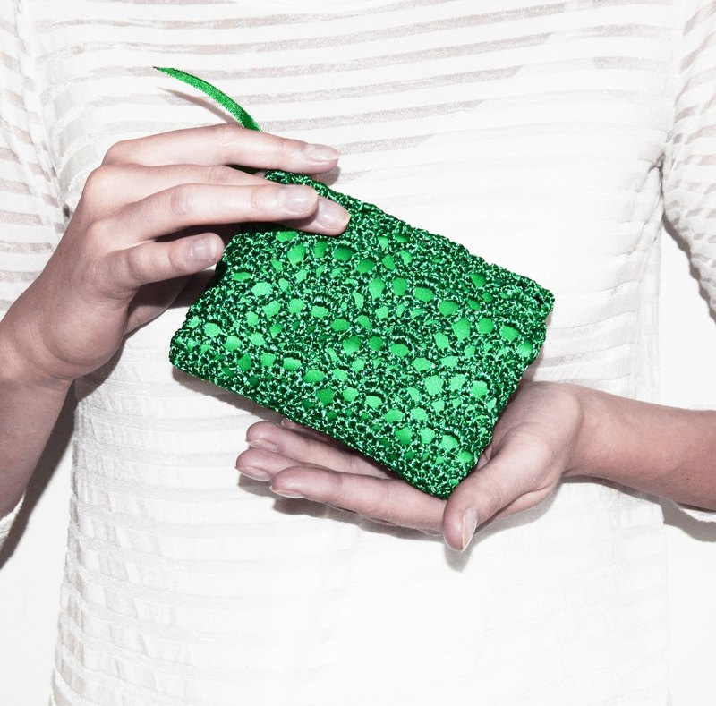 Emerald Green Coin Purse - Small Coin Pouch - Credit Card Holder - Small Green Wallet - Christmas Green Bag - Small Gifts in Emerald Green