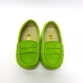 Fort Tony Wang matte leather handmade shoes kids [/ beans bottom / pea green]
