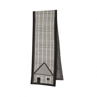 House pure wool scarf - Black | Donna Wilson