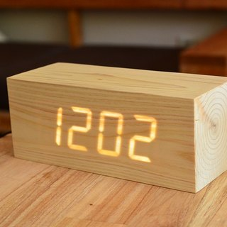 Wooden LED Clock |Digital Alarm Clock