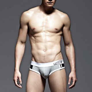 UNDERNEXT2 vitality breathable briefs gray / black