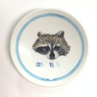 Raccoons - Animals picture cards painted saucer