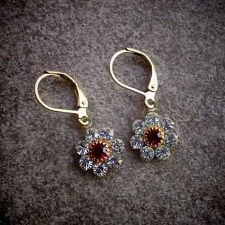 Vintage Swarovski Flower Earrings