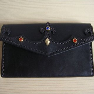 [ISSIS] Kuroshio imperial crown molding edition Royal Iris card holder