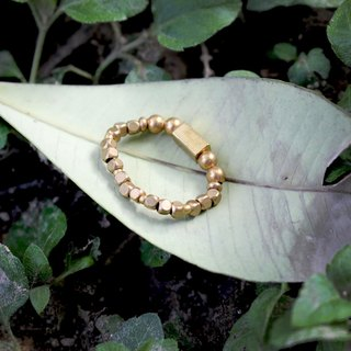 Square window -half's half of pure brass bracelet