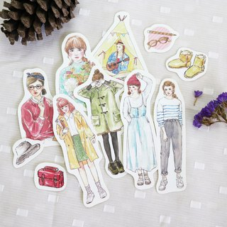 bonbon girls sticker set - let's go camping