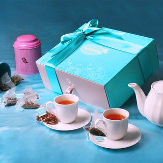 (White peach oolong + gold Tartar buckwheat tea) [HERDOR flower tea gift box]