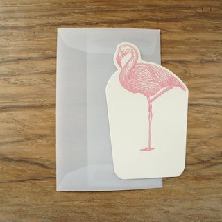 MINI CARD- fog through mini square (Limited) card (with mist through small sealed canister) --- red-crowned cranes