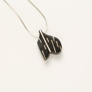 Little Raindrops silver inlaid ebony ebony necklace // // suitable for individual women to wear Oh!