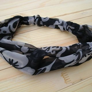 Cross twist hair band