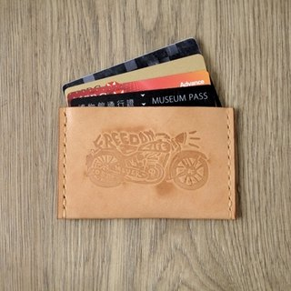 Locomotive free attitude leather card set FREEDOM LIFE NEVER LOST (youyou card/card) Leather Card Holder