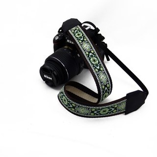 Camera strap can print personalized custom leather stitching national wind embroidery pattern 004