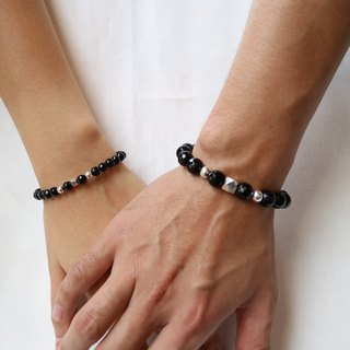 [Happy] ColorDay guard black onyx ring on Valentine's Day Silver <Black Agate Bracelet>