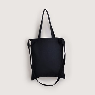 2 way canvas bag-Black