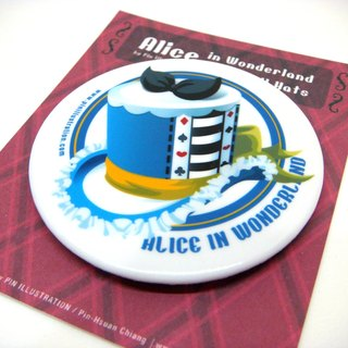【Pin】Alice│Alice in Wonderland│5.8 CM badge│Mint blue on the back