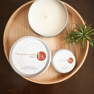 Cypress Natural Soy Candles - natural soy tea light aluminum cans x x x Smoke - pure essential oils