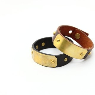 Embellish - Bracelet LB013-02401 leather bracelet brass