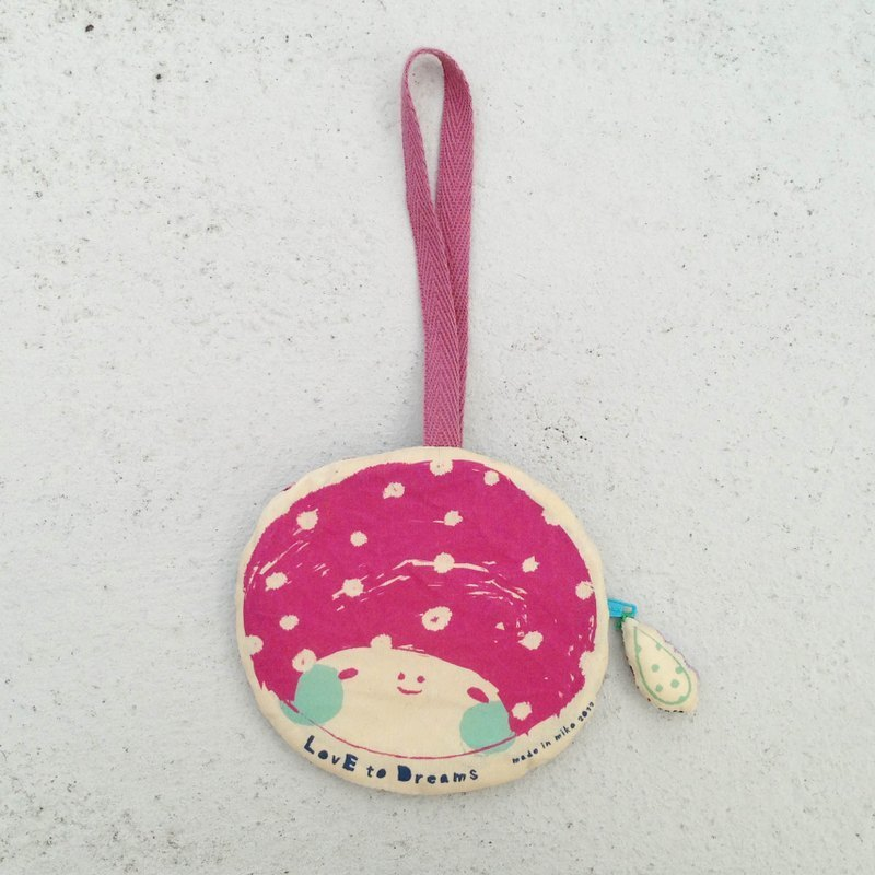 Little girl leisure card holder / coin purse - pink