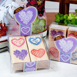 Four into the stamp set - heart-shaped lace
