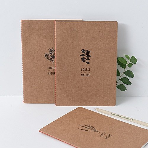 ARDIUM kraft paper notebook forest group ()